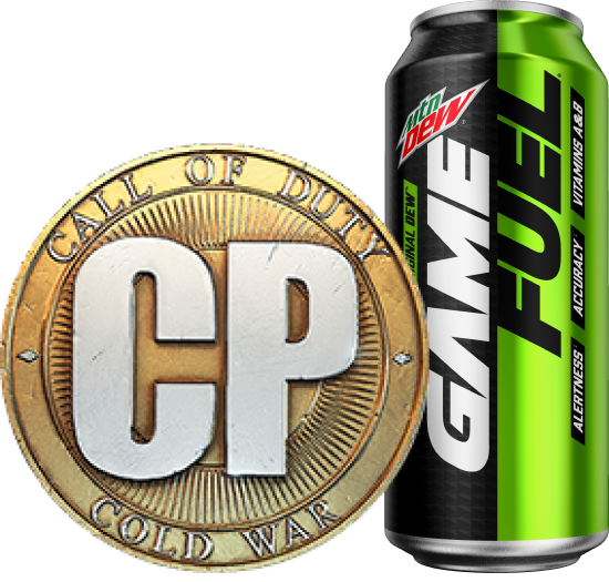 2,000 Call of Duty®: Black Ops Cold War Points (CP) + 12 pack of Mountain Dew Game Fuel