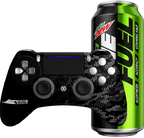 Scuf Impact Controller + 12 pack of Mountain Dew Game Fuel